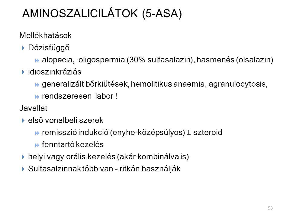 AMINOSZALICILÁTOK (5-ASA)