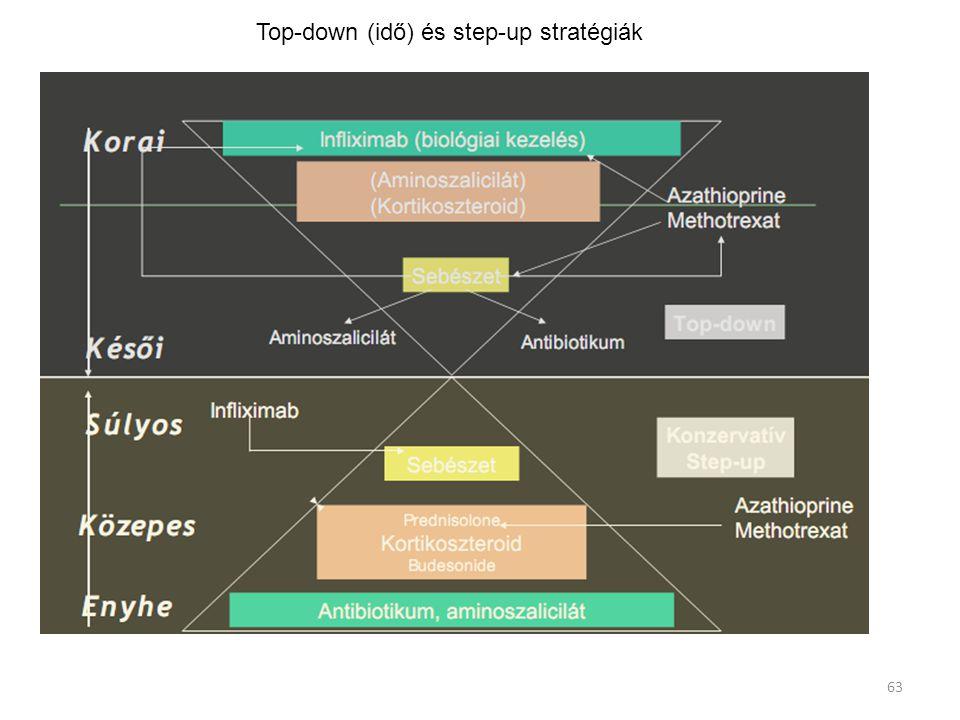 Top-down (idő) és step-up stratégiák