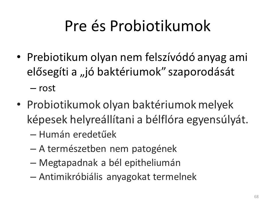 """Pre és Probiotikumok Prebiotikum olyan nem felszívódó anyag ami elősegíti a """"jó baktériumok szaporodását."""