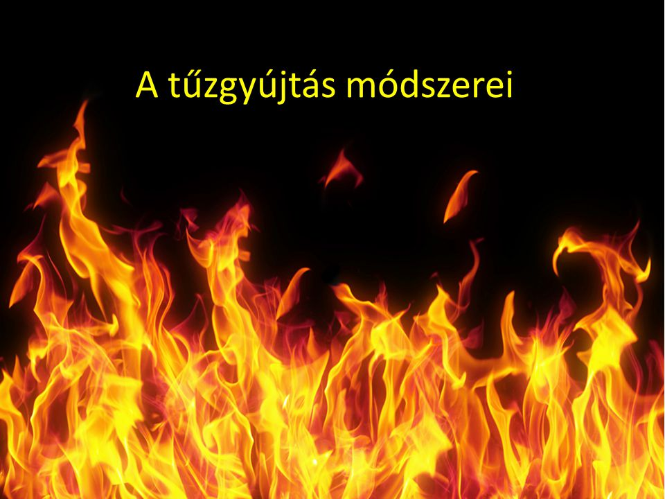 A tűzgyújtás módszerei
