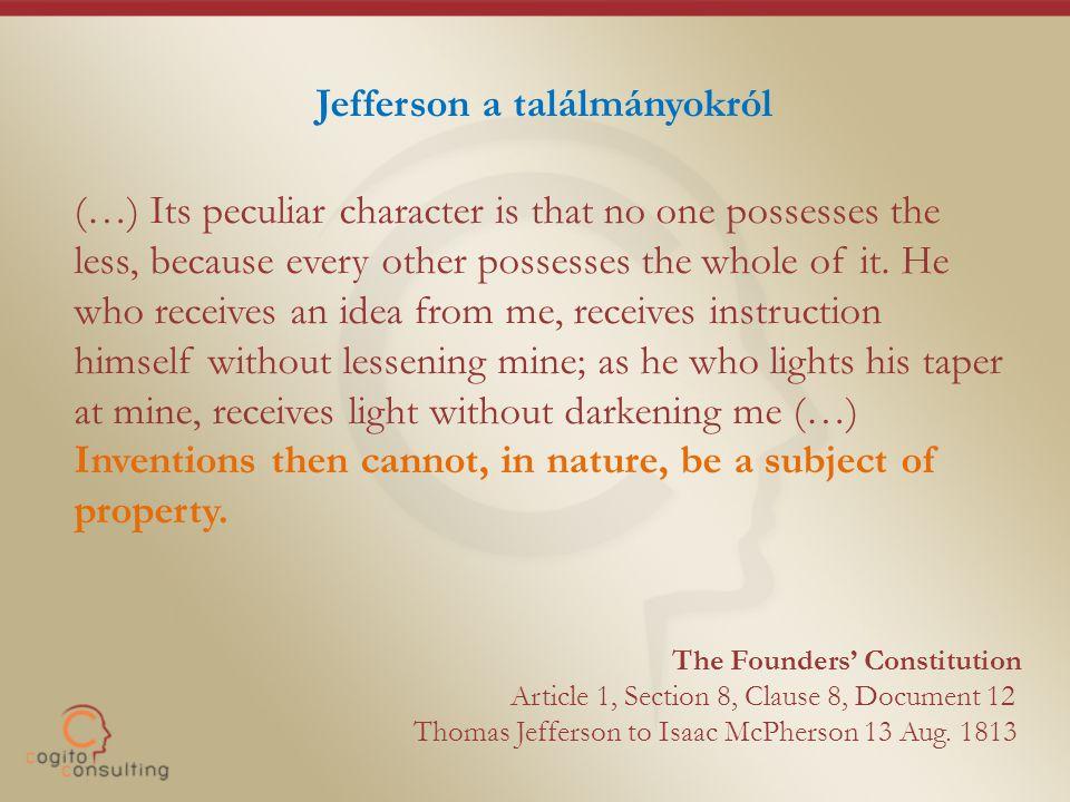 Jefferson a találmányokról