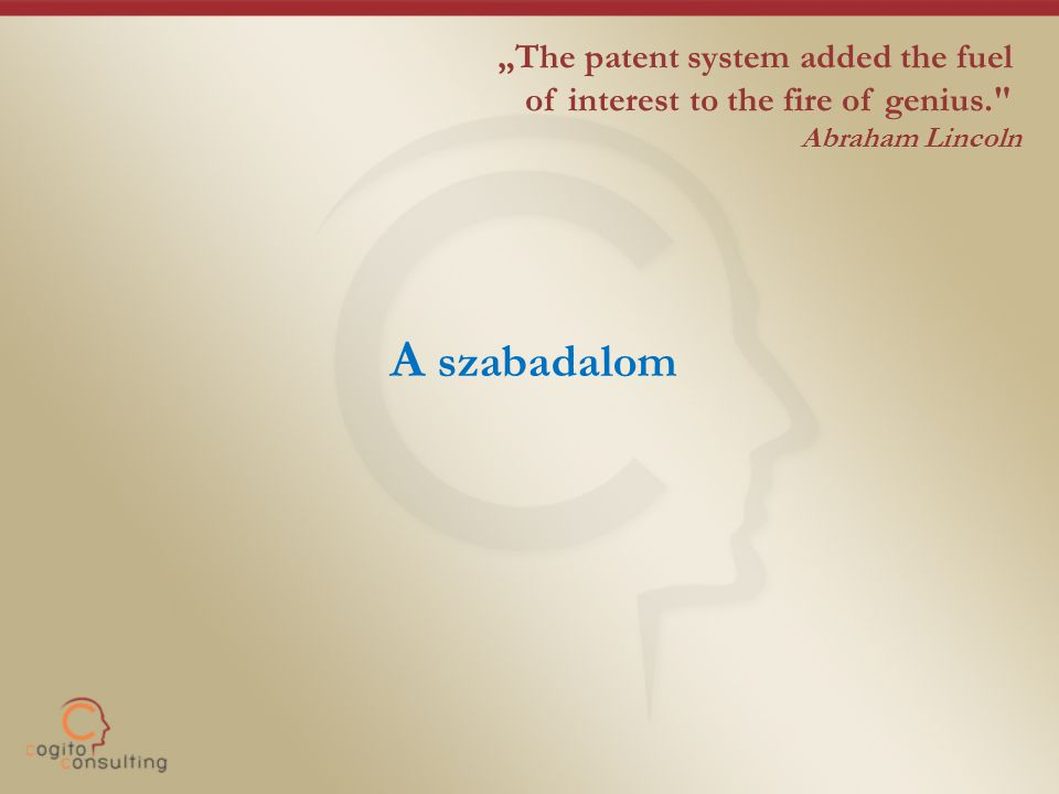 "A szabadalom ""The patent system added the fuel"