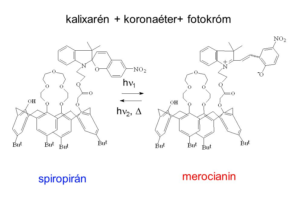 kalixarén + koronaéter+ fotokróm