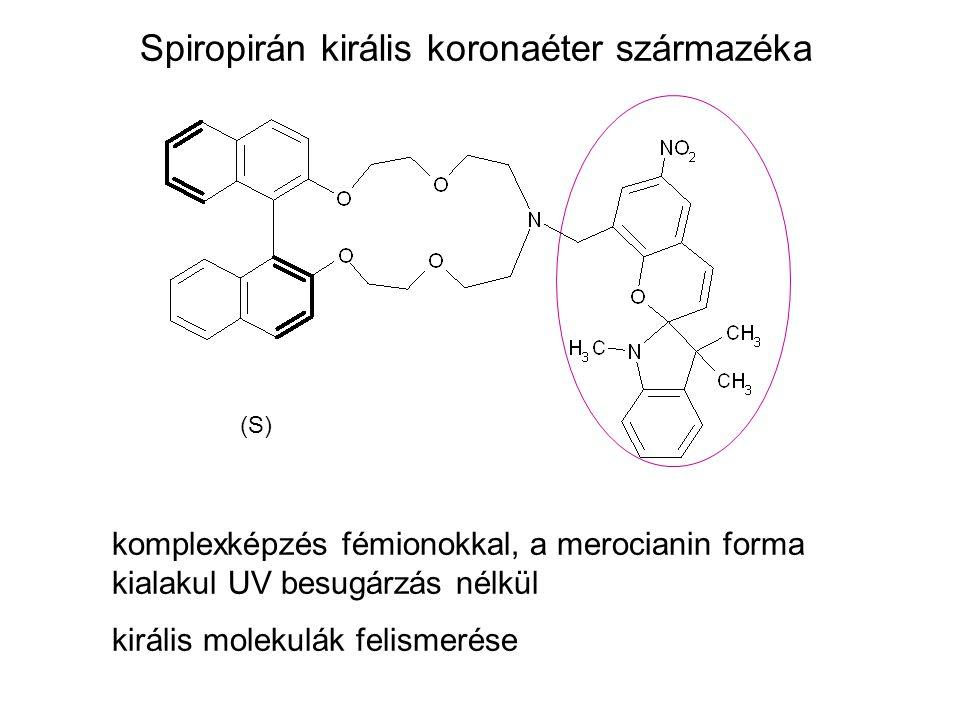 Spiropirán királis koronaéter származéka