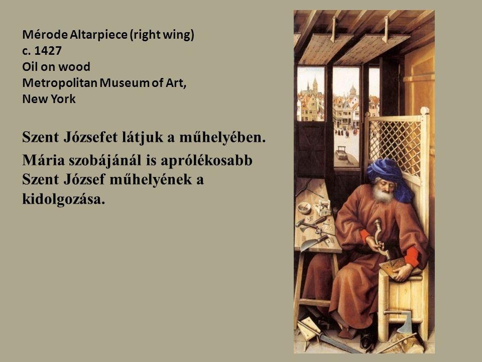Szent Józsefet látjuk a műhelyében.