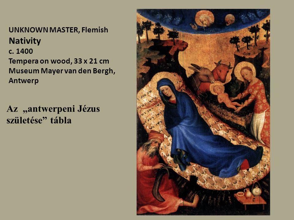 """Az """"antwerpeni Jézus születése tábla"""