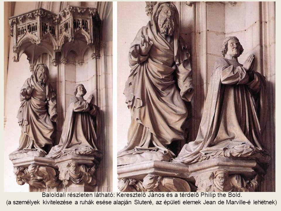 Baloldali részleten látható: Keresztelő János és a térdelő Philip the Bold.