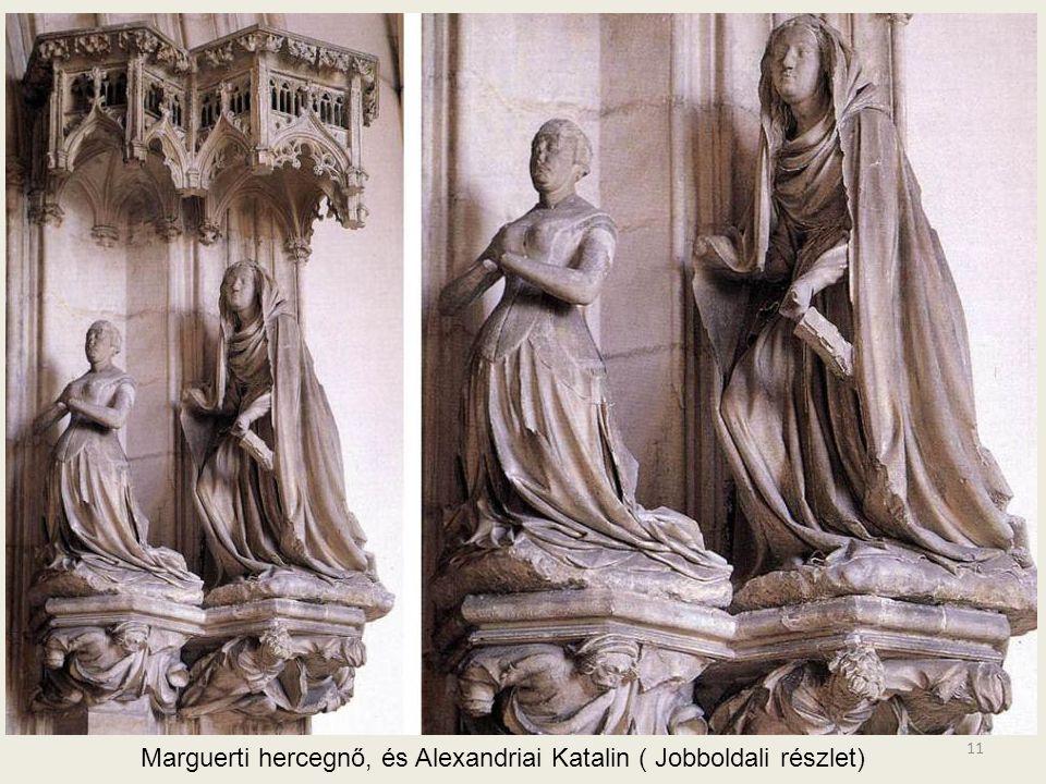 Marguerti hercegnő, és Alexandriai Katalin ( Jobboldali részlet)