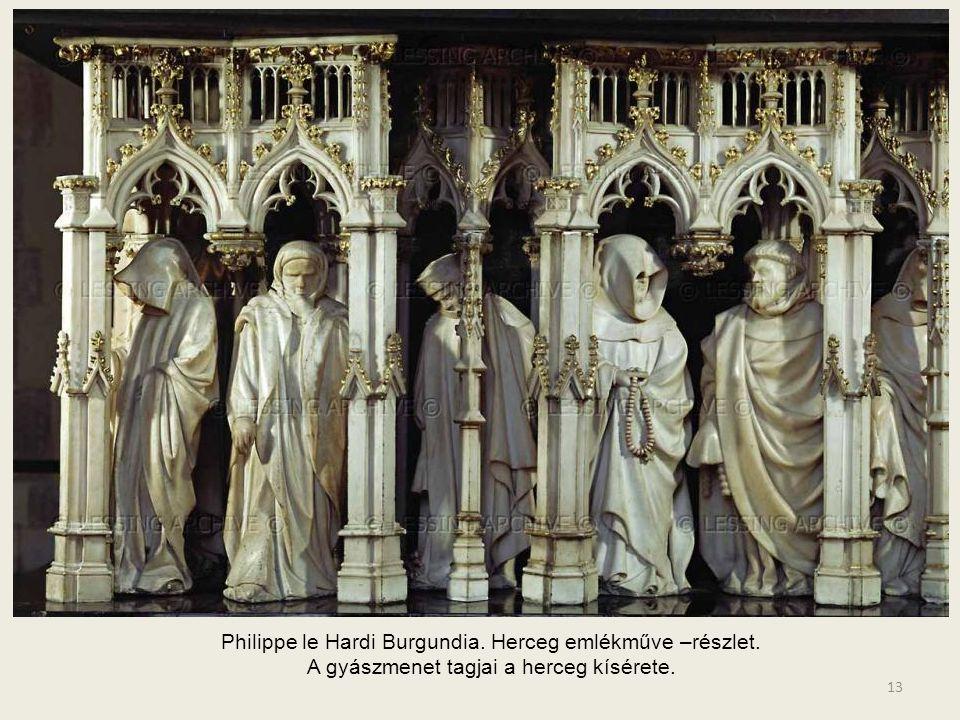 Philippe le Hardi Burgundia. Herceg emlékműve –részlet.