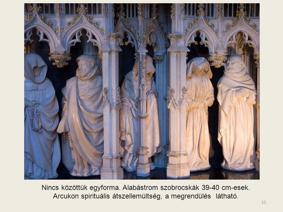 Nincs közöttük egyforma. Alabástrom szobrocskák 39-40 cm-esek