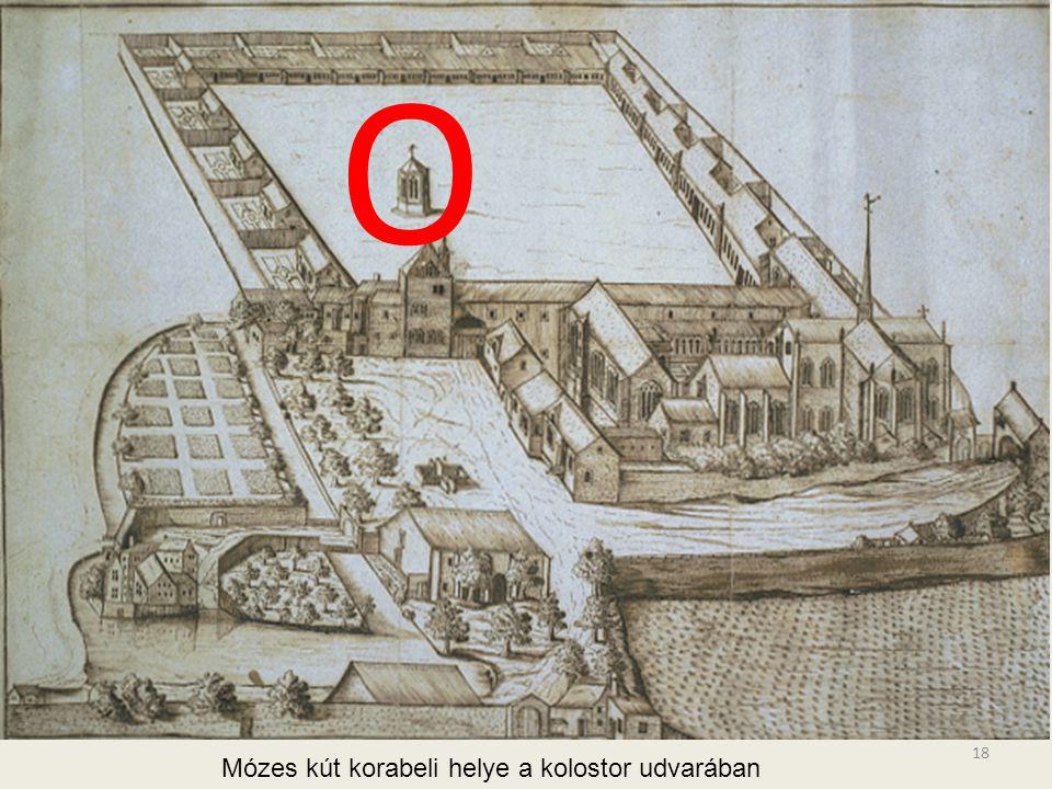 O Mózes kút korabeli helye a kolostor udvarában