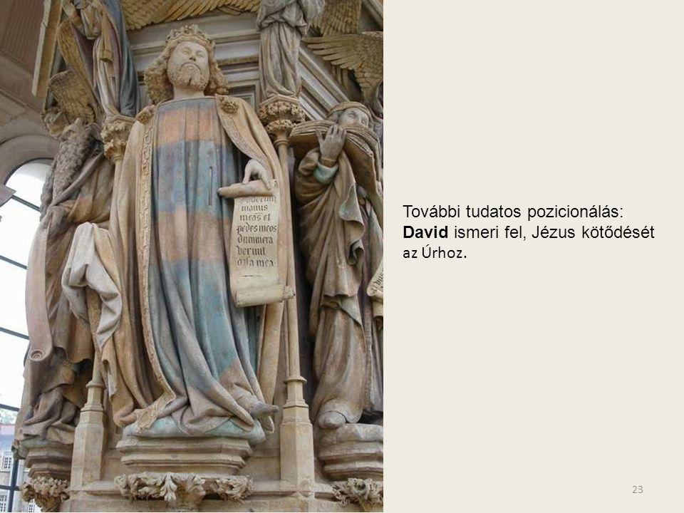További tudatos pozicionálás: David ismeri fel, Jézus kötődését