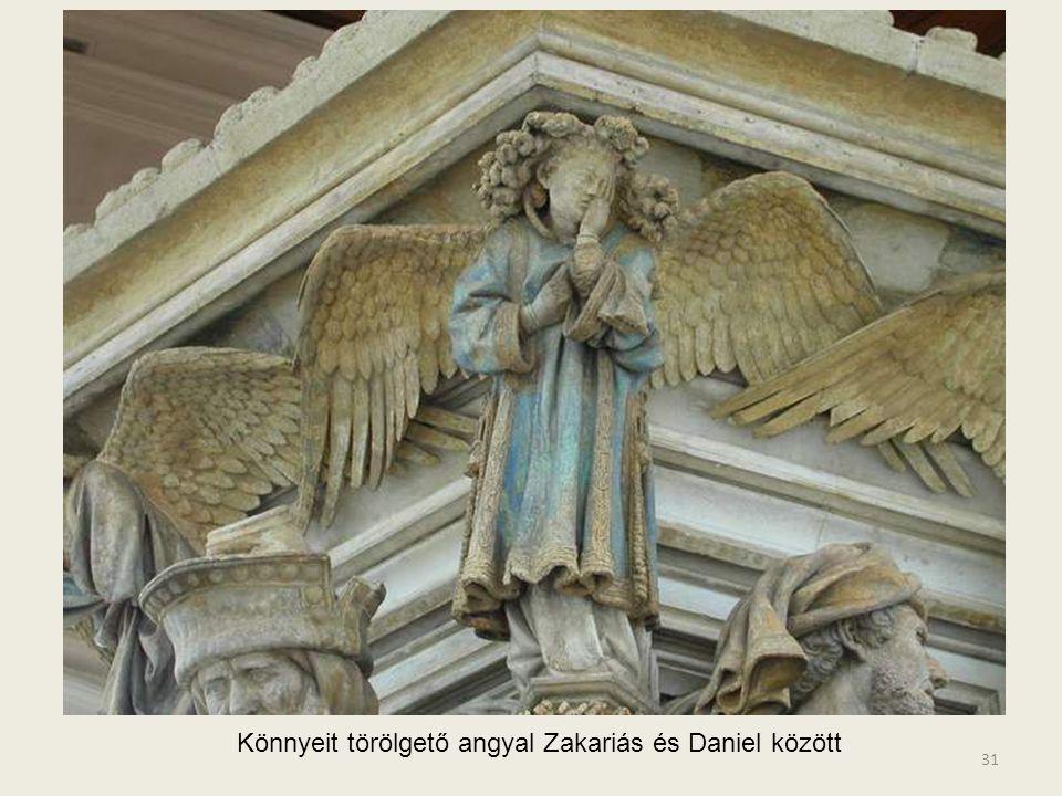 Könnyeit törölgető angyal Zakariás és Daniel között