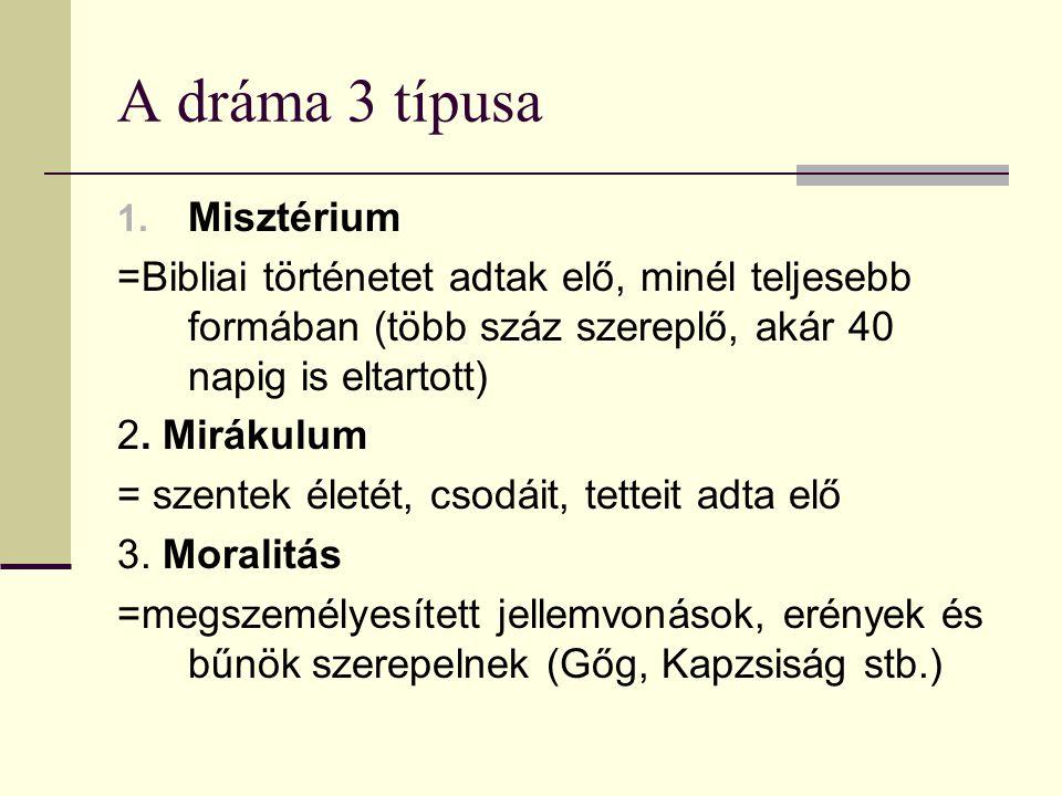 A dráma 3 típusa Misztérium