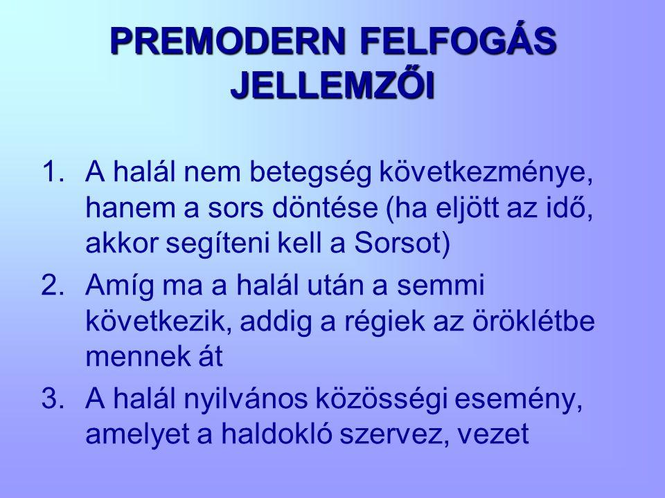 PREMODERN FELFOGÁS JELLEMZŐI