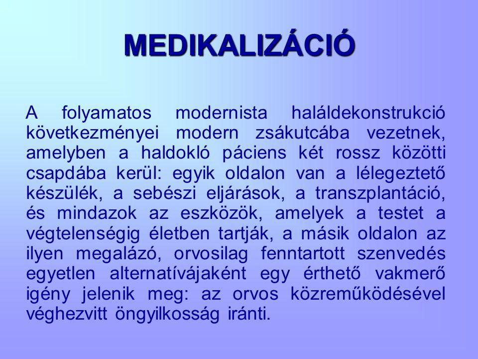 MEDIKALIZÁCIÓ