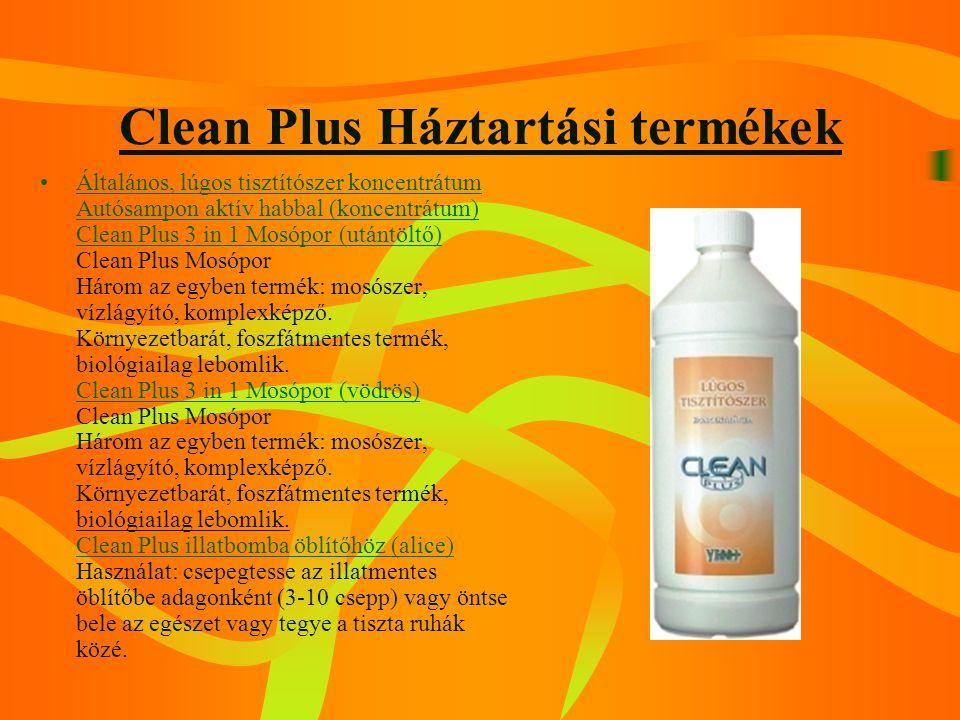 Clean Plus Háztartási termékek