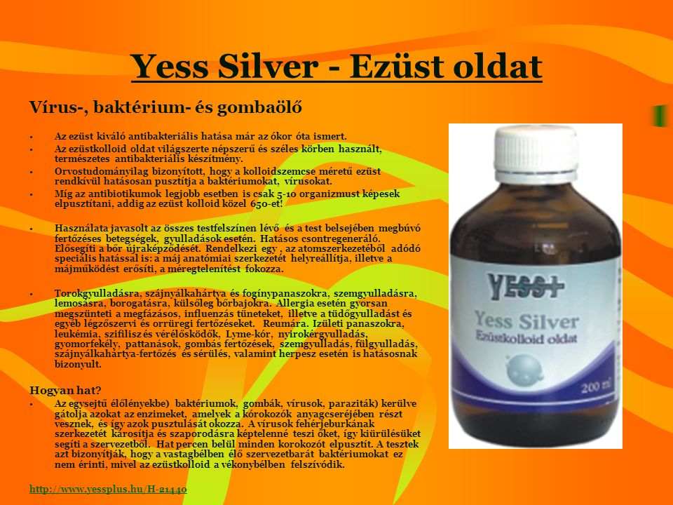 Yess Silver - Ezüst oldat