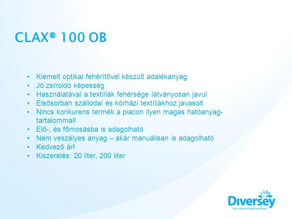 CLAX® 100 OB Kiemelt optikai fehérítővel készült adalékanyag