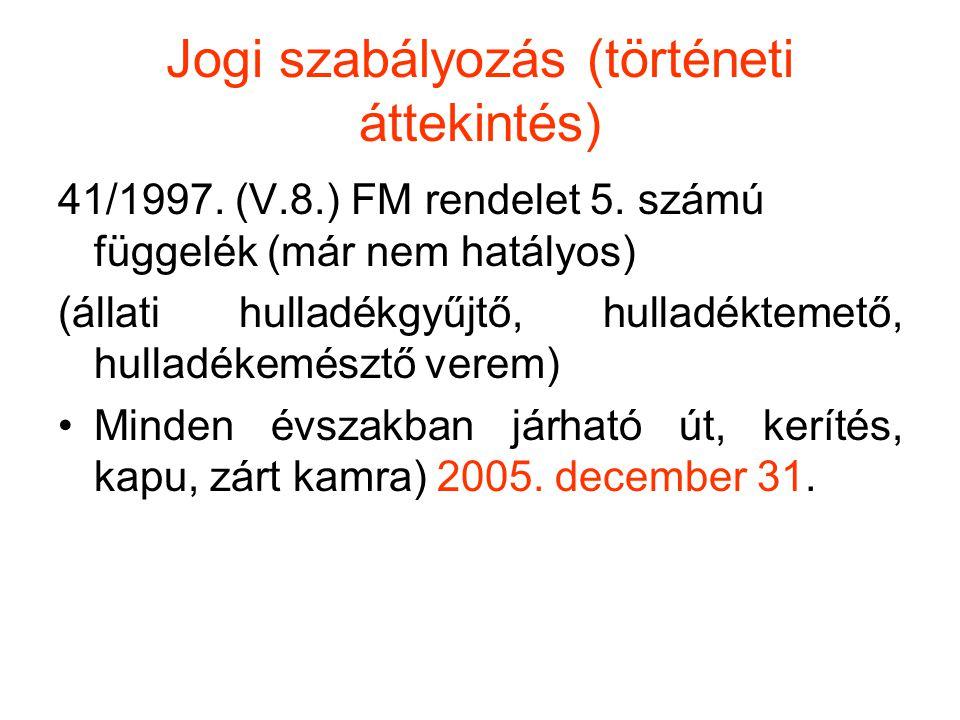 Jogi szabályozás (történeti áttekintés)
