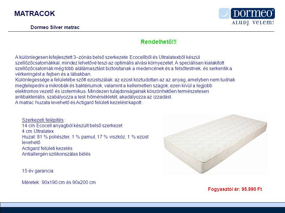 MATRACOK Rendelhető!!! Dormeo Silver matrac