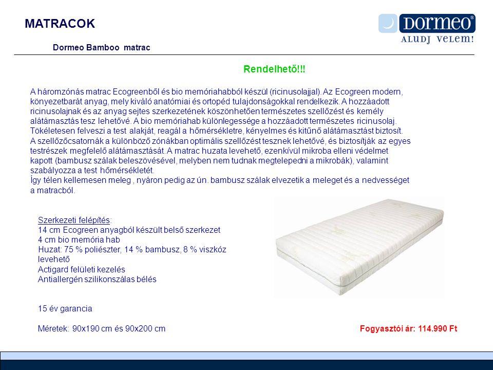 MATRACOK Rendelhető!!! Dormeo Bamboo matrac