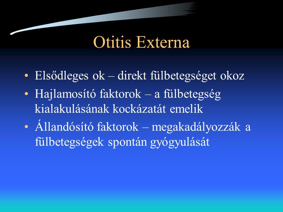 Otitis Externa Elsődleges ok – direkt fülbetegséget okoz