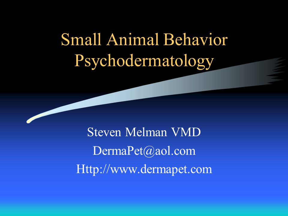 Small Animal Behavior Psychodermatology