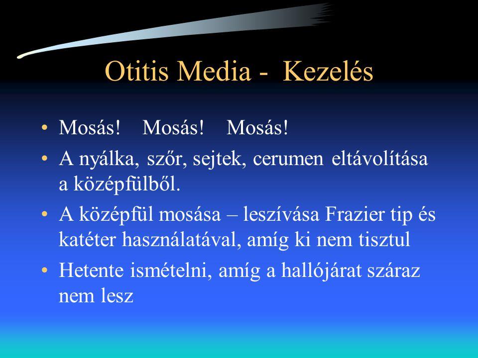 Otitis Media - Kezelés Mosás! Mosás! Mosás!