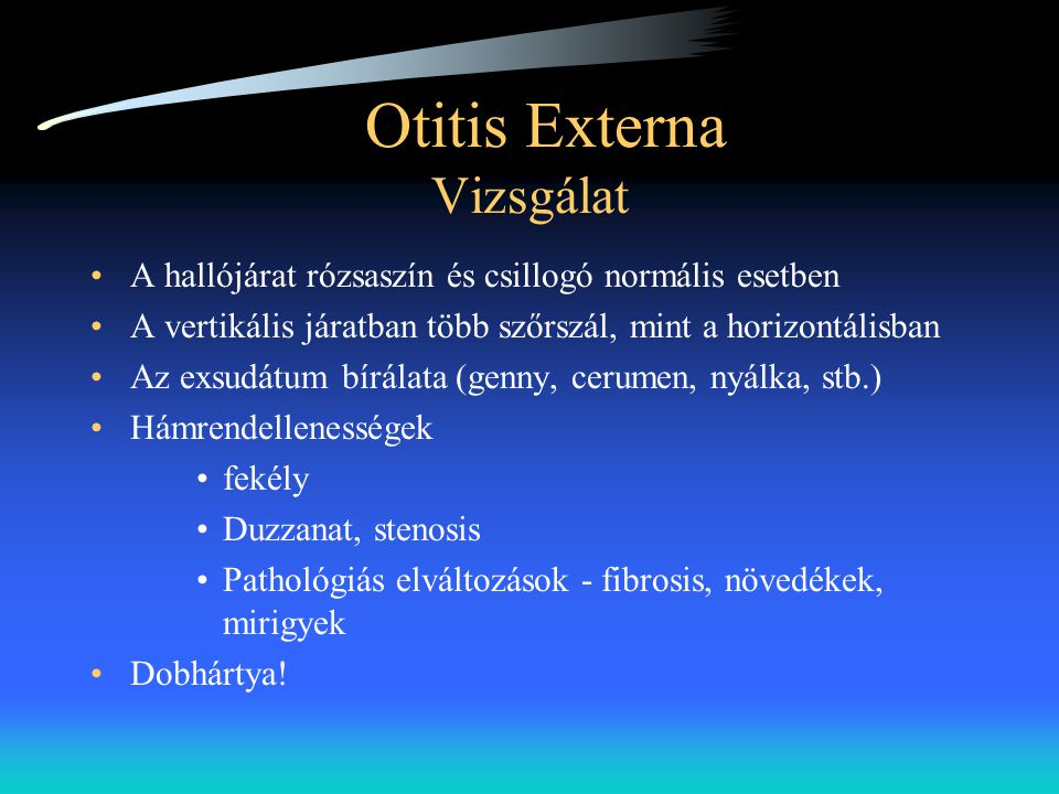 Otitis Externa Vizsgálat