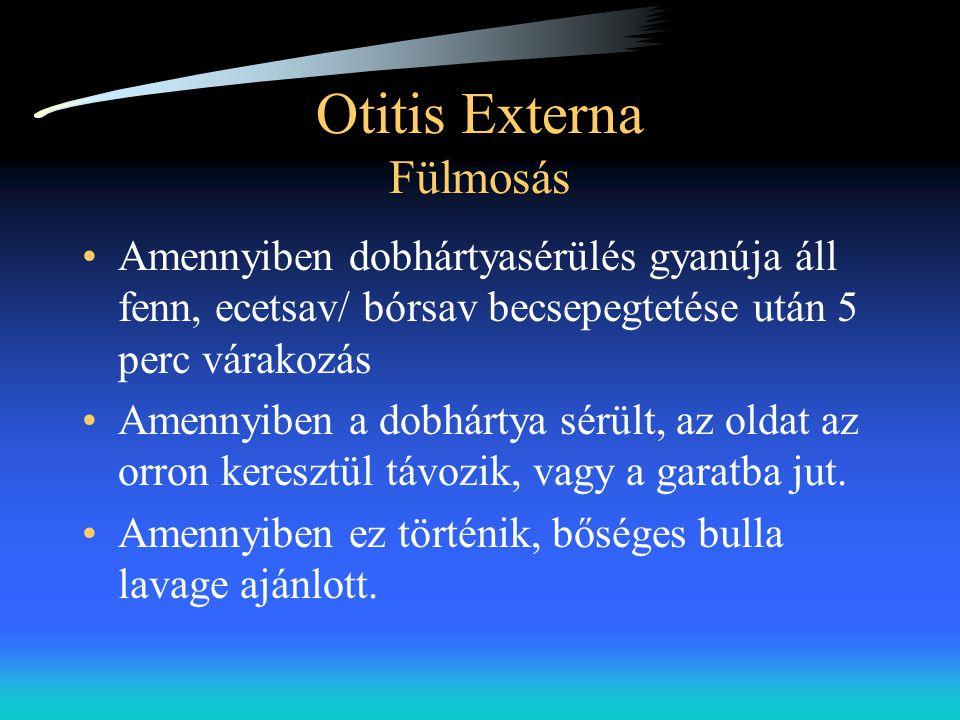 Otitis Externa Fülmosás