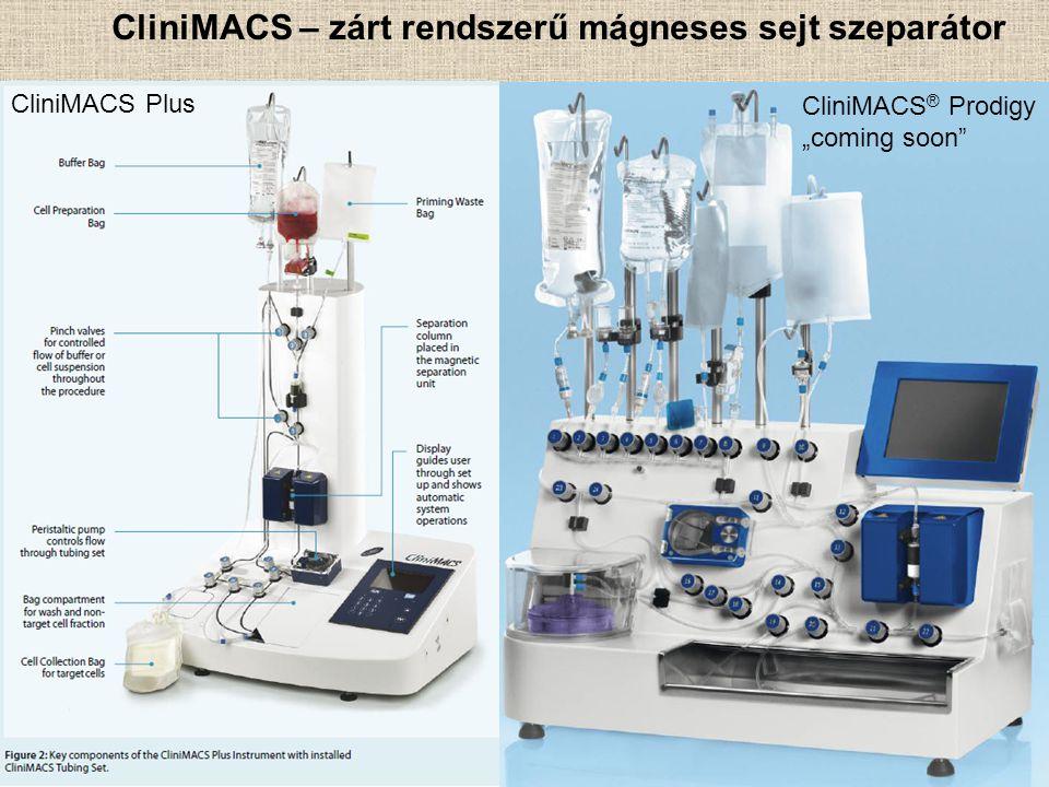 CliniMACS – zárt rendszerű mágneses sejt szeparátor