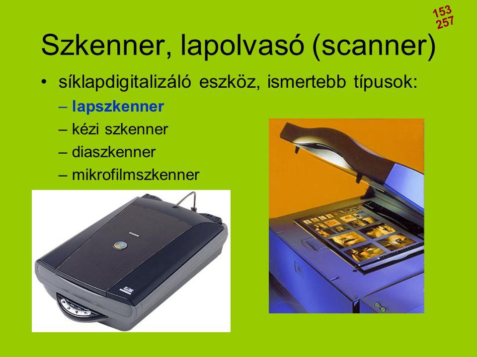 Szkenner, lapolvasó (scanner)