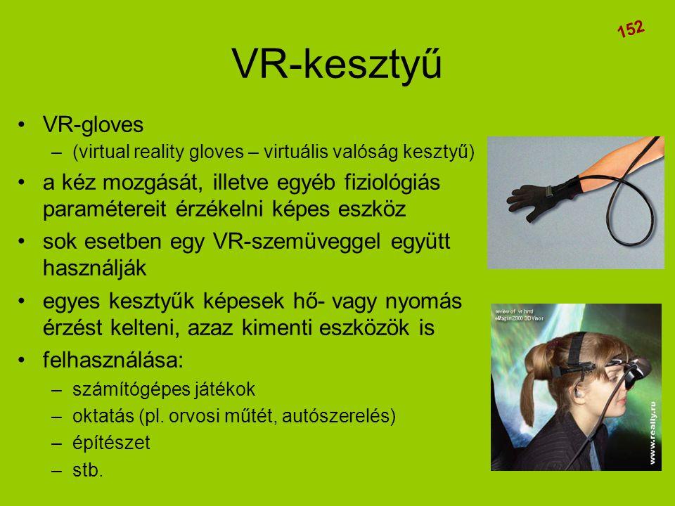 VR-kesztyű 152. VR-gloves. (virtual reality gloves – virtuális valóság kesztyű)