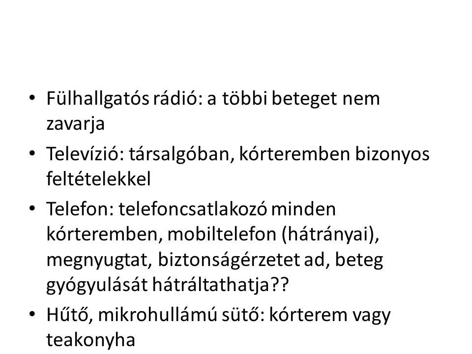 Fülhallgatós rádió: a többi beteget nem zavarja
