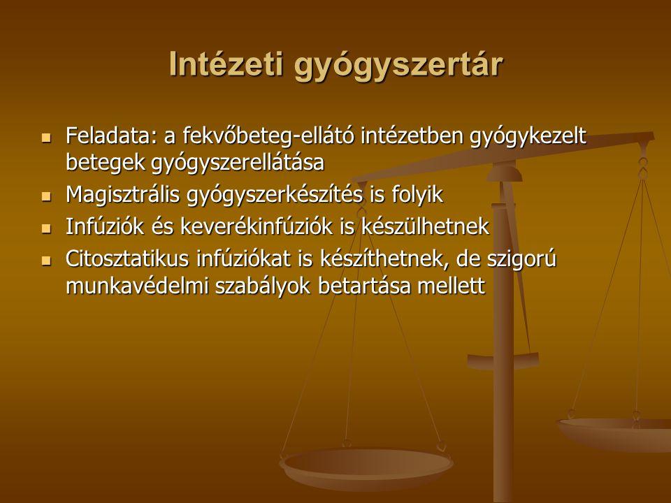 Intézeti gyógyszertár