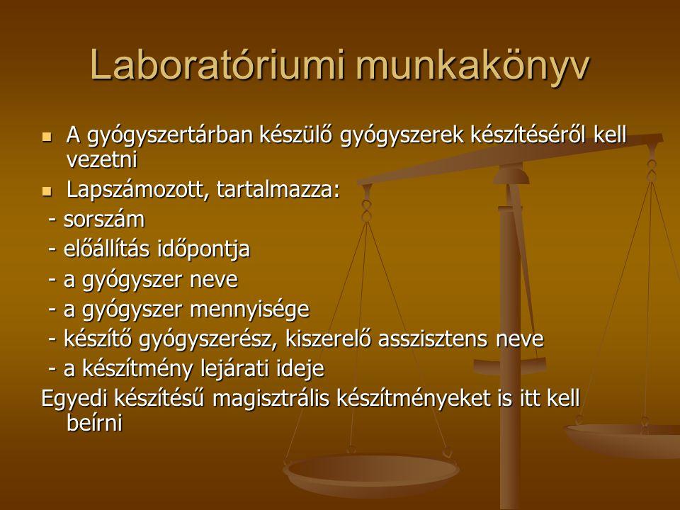 Laboratóriumi munkakönyv