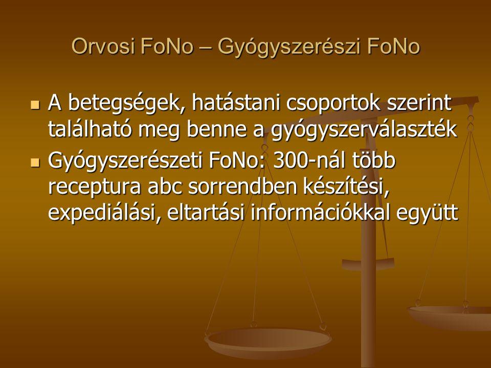 Orvosi FoNo – Gyógyszerészi FoNo