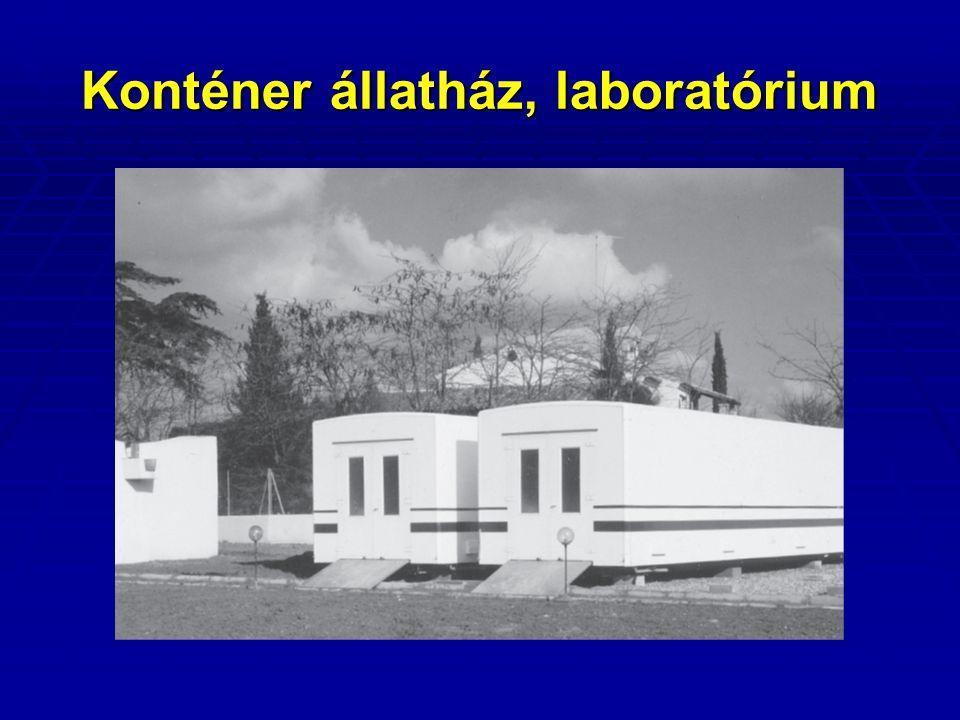 Konténer állatház, laboratórium