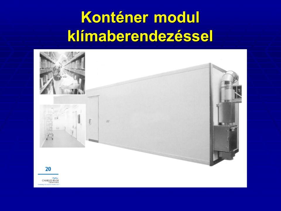 Konténer modul klímaberendezéssel