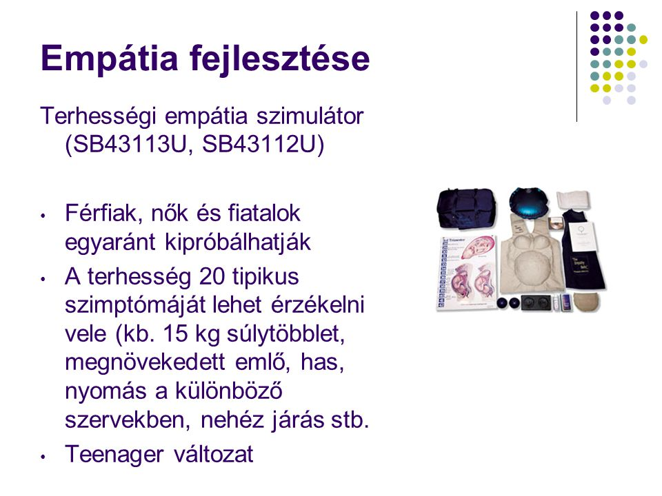 Empátia fejlesztése Terhességi empátia szimulátor (SB43113U, SB43112U)
