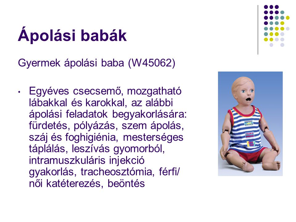 Ápolási babák Gyermek ápolási baba (W45062)