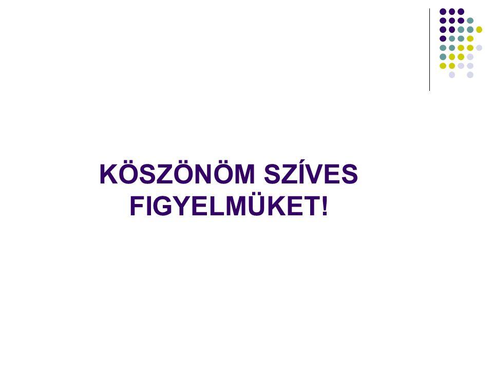 KÖSZÖNÖM SZÍVES FIGYELMÜKET!
