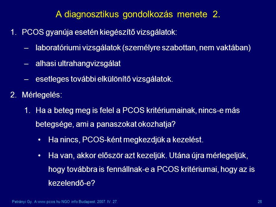 A diagnosztikus gondolkozás menete 2.
