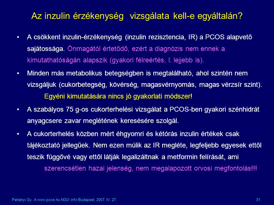 Az inzulin érzékenység vizsgálata kell-e egyáltalán