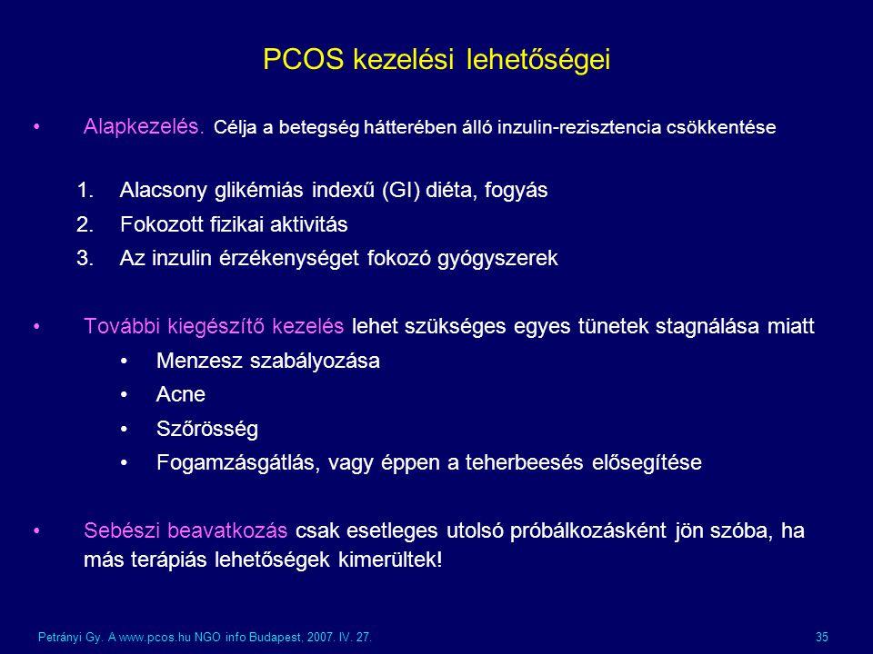 PCOS kezelési lehetőségei