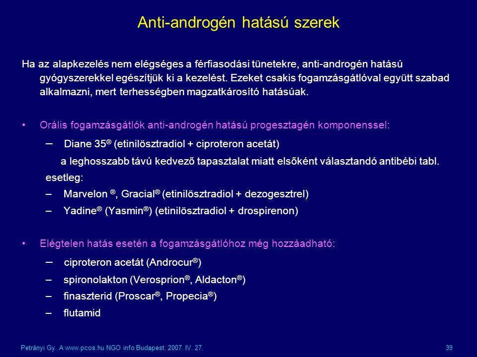 Anti-androgén hatású szerek