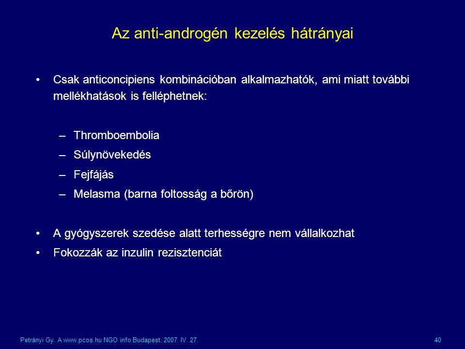 Az anti-androgén kezelés hátrányai
