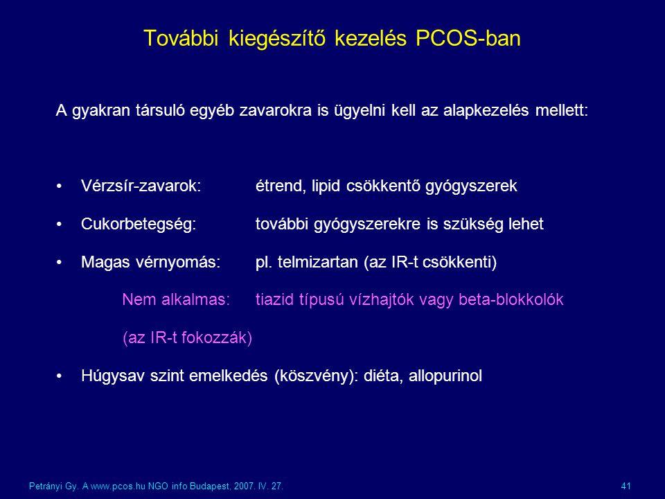 További kiegészítő kezelés PCOS-ban