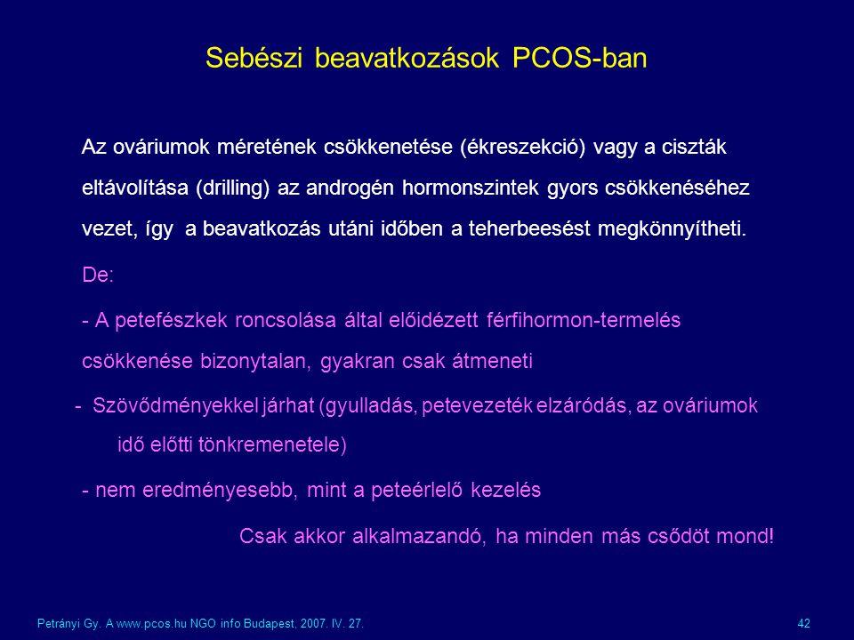 Sebészi beavatkozások PCOS-ban